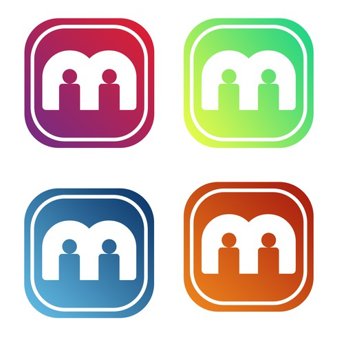 Logo for a social app.