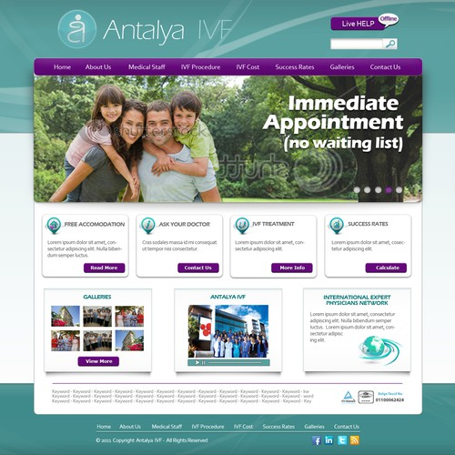 Help ANTALYA IVF with a new website design