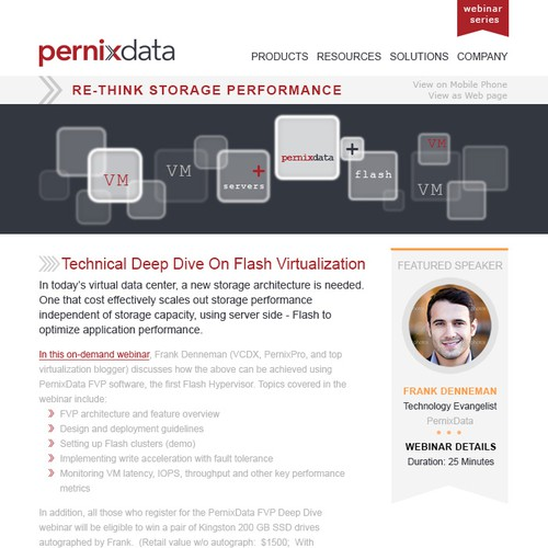 Create an attendee driving masterpiece for PernixData