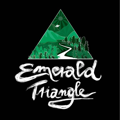 T-shirt design emerald triangle