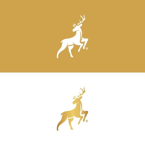 The Golden Reindeer Logo Concept