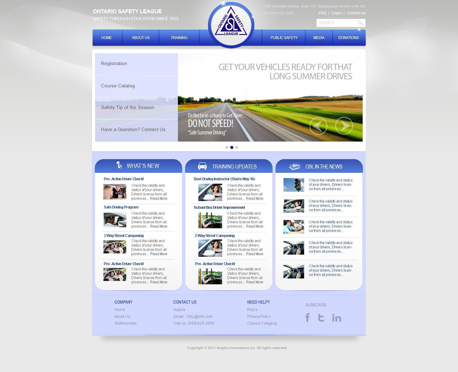 Help Ontario Safety League with a new website design