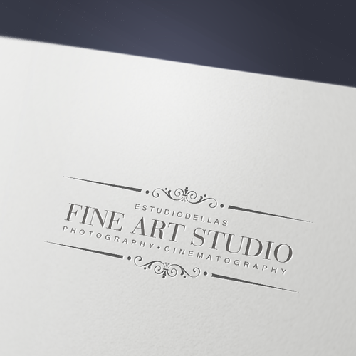 A logo for estudiodellas Fine´Art`Studio photography - cinematography.