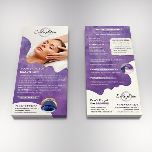 Rack card for beauty salon