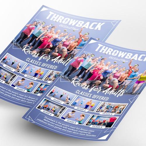 Throwback Fitness Flyer Design