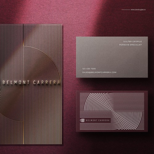 Classic business cards for Belmont Carrera