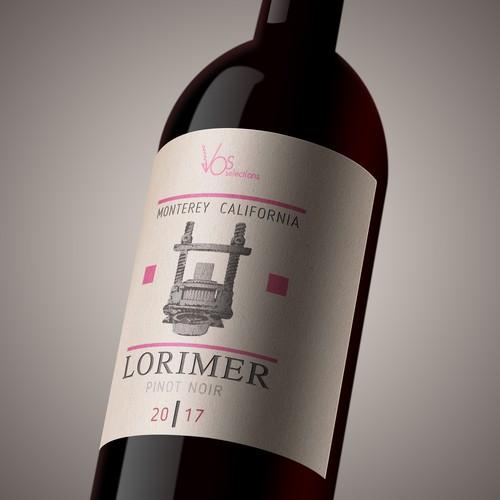 Wine label LORIMER_PN