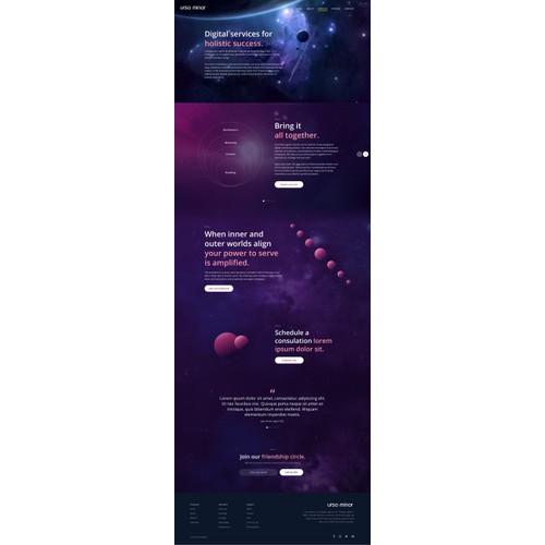 Space Theme Web Design