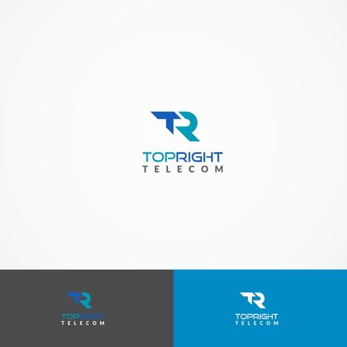 TR logo for TopRight Telecom