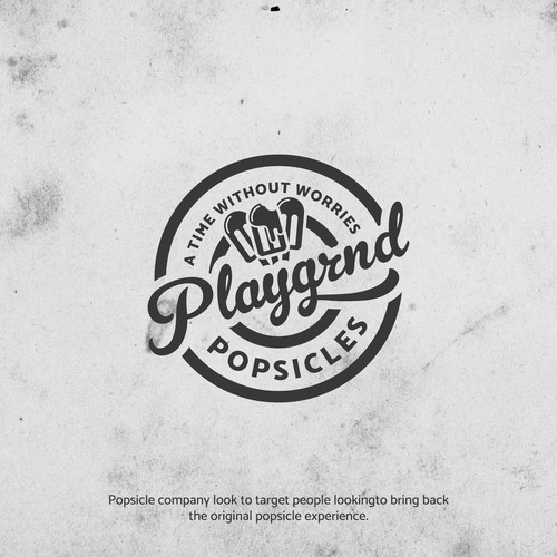 Bold logo concept for Playgrnd Popsicles.