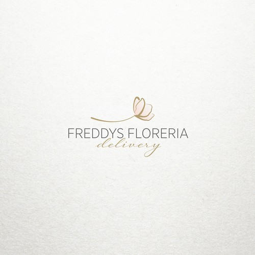 Elegant logo concept for flower shop