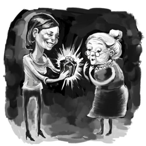 concept for gift illustration