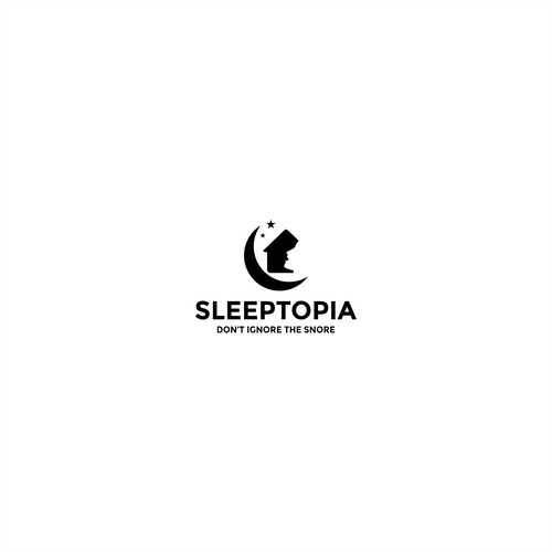 sleeptopia logo design