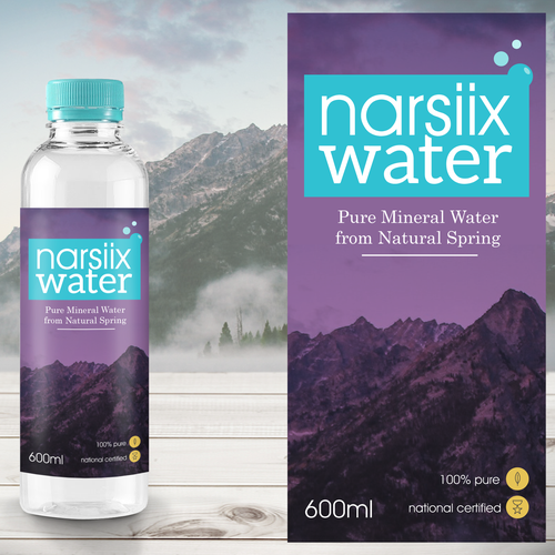 Mineral Bottle Packaging for Narsiix Water