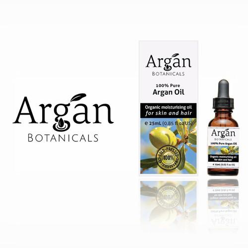 Logo and Packaging Design for Argan Oil Brand