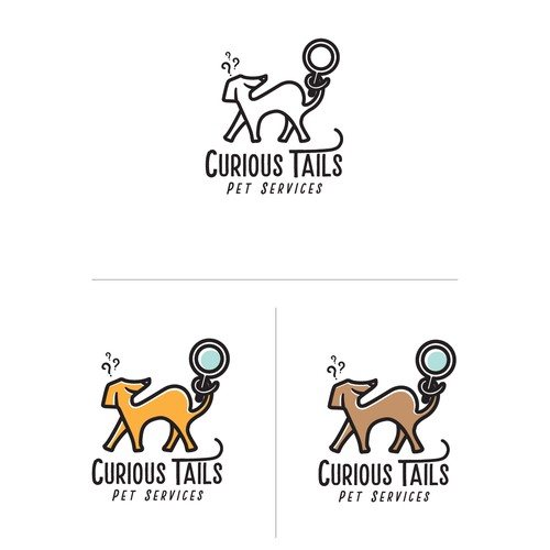 Curious Tails - (Pet Services) Logo