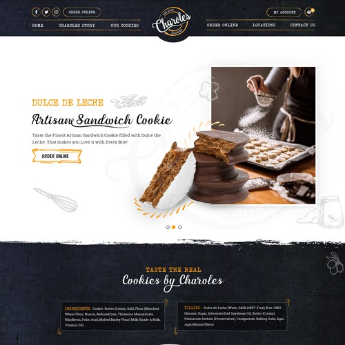 Creation of delicious cookies  website