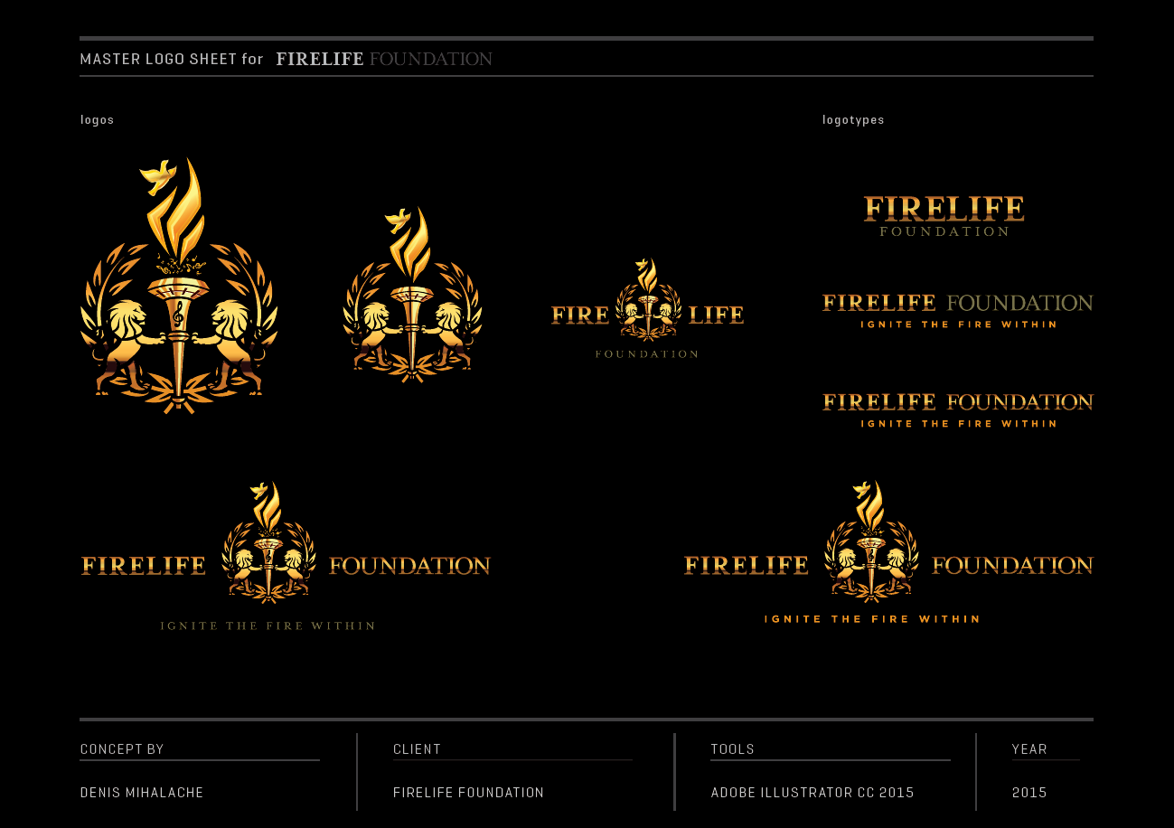 Create a logo that will be seen on stages like the staples center for the Firelife Foundation.