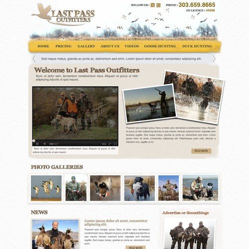 Bad ass website for  Last Pass Outfitters