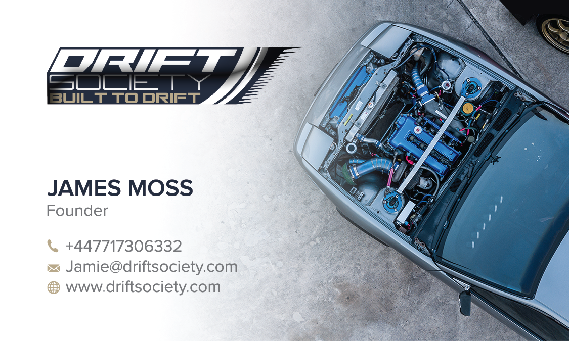 Create business card for parts store Drift Society