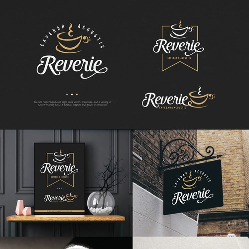 Modern Logo for Reverie Bar.