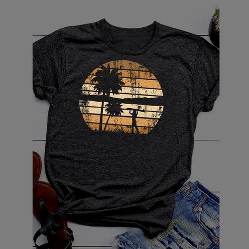 Vintage Surfgirl T-Shirt Design