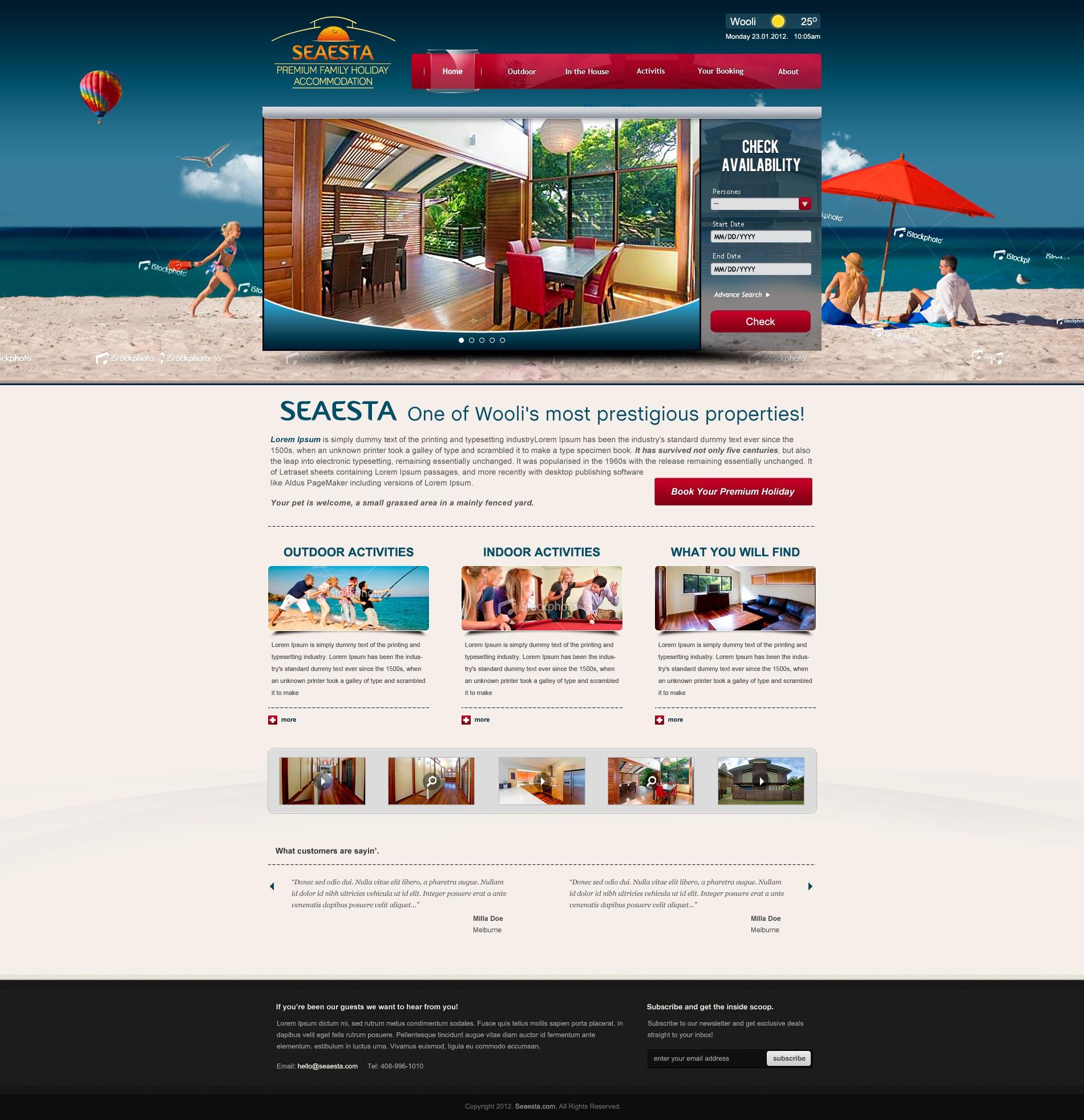 Create the next website design for Seaesta