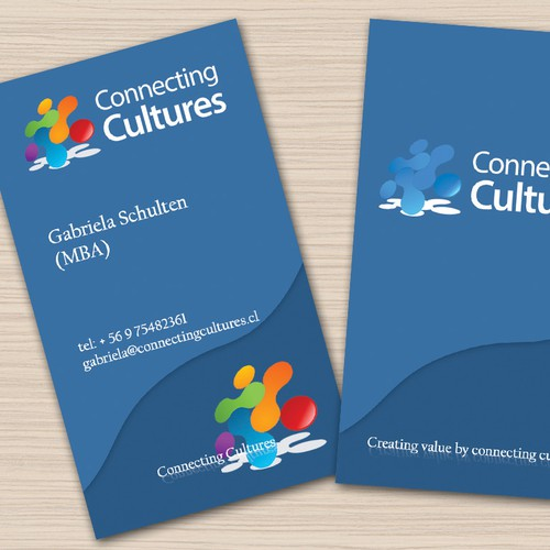 Connecting Cultures needs business card and stationary