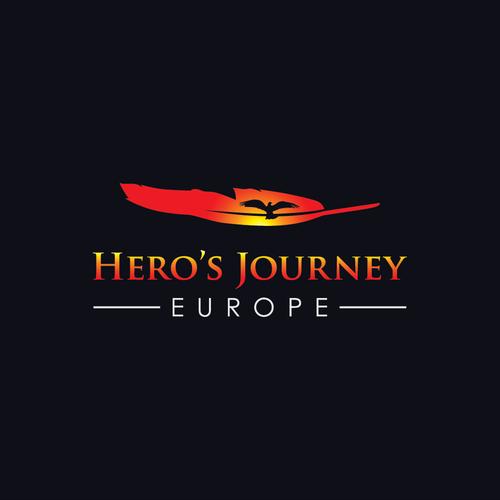 Inspirierendes Logo für Heldenreisen- Organisation