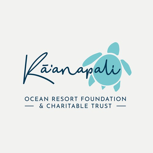 Simple and fun logo for an Ocean Resort Foundation