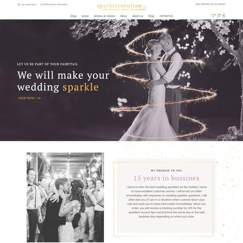 Website for Wedding Sparklers
