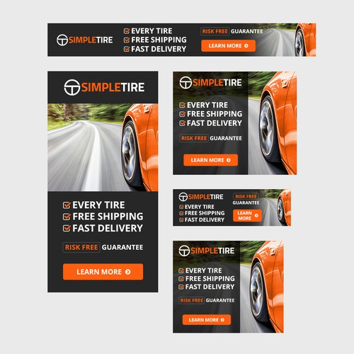 Display Banner ads for tires.