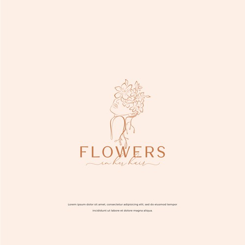 LOGO CONCEPT FOR FLOWERS IN HER HAIR