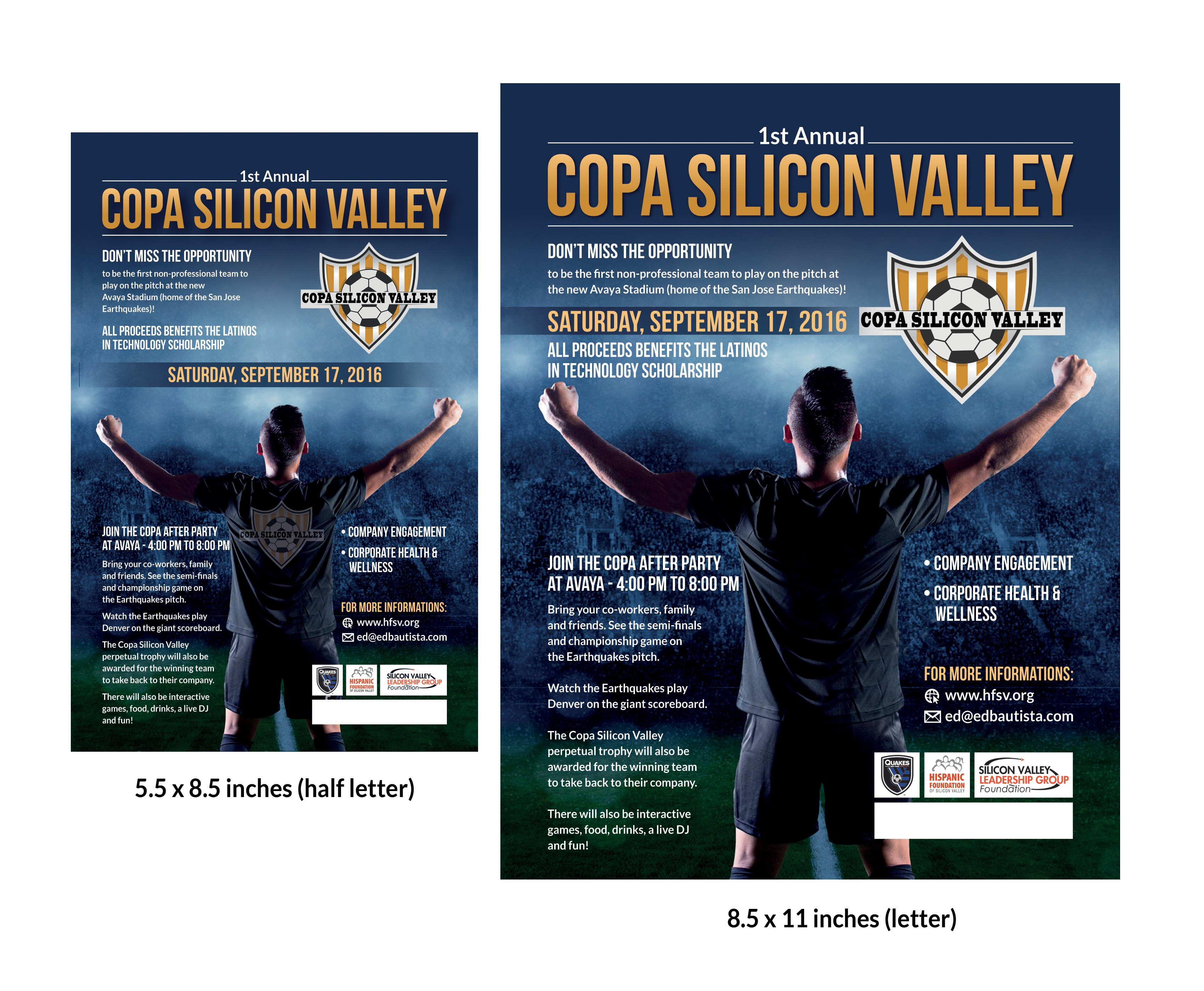 Design A Flyer For Copa Silicon Valley