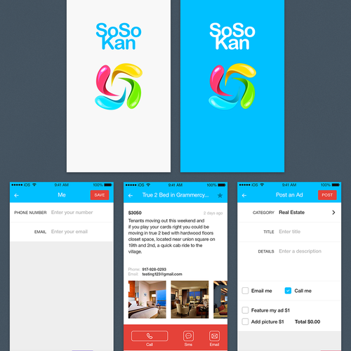 Design an elegant simple classified mobile iPhone app