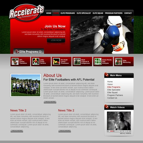 Web Design for Accelerate