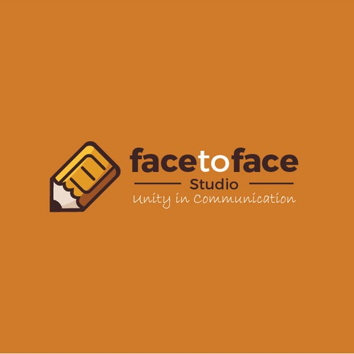 Simple logo concept for facetoface studio.
