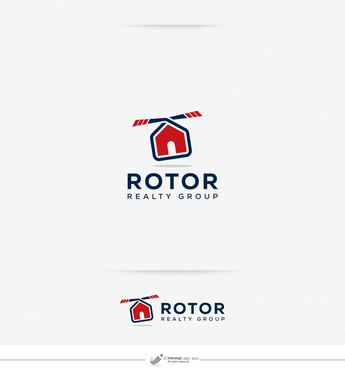 Design a new modern logo for the veteran company Rotor Properties
