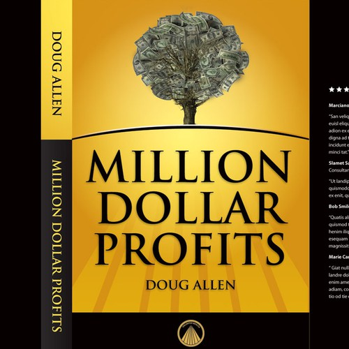 Book cover design for Million Dollar Profits by Doug Allen