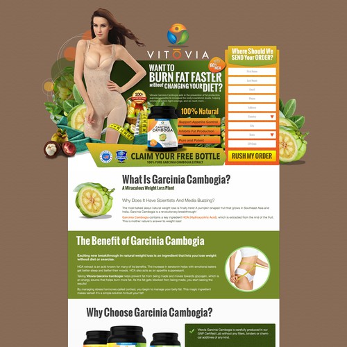 Design A Creative Landing Page for Our Health Supplement