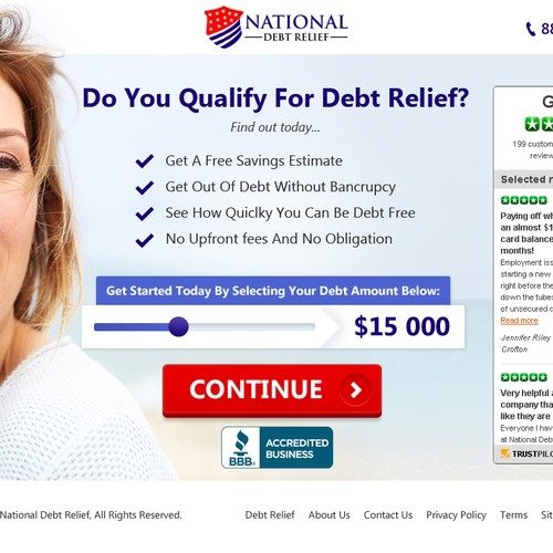 Financial services company new high converting landing page