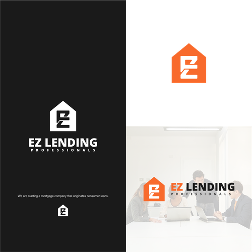 Simple monogram logo for EZ Lending co.