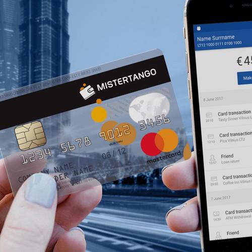 Mistertango mastercard design