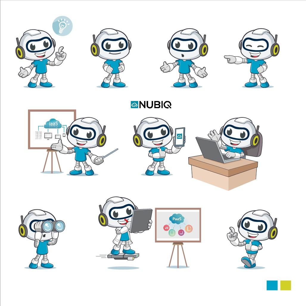 Create a Cool Mascot for our Cloud Brand NUBIQ