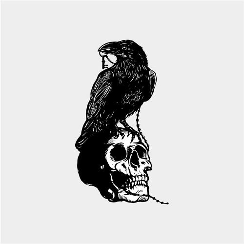 Illustrtion design of Raven