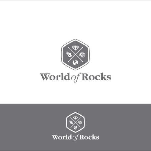 World of Rocks logo for handmade jewelry, fossils, crystals, minerals and rocks of all kind