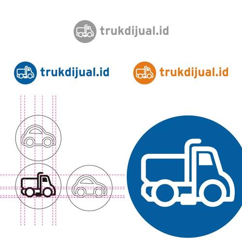 logo concept for trukdijual.id