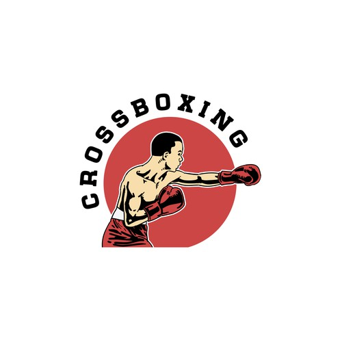 cross boxing logo concept