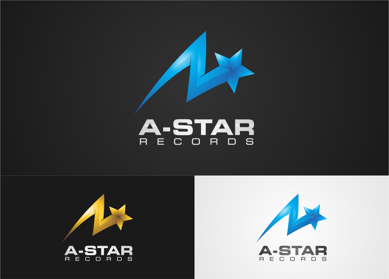 Create the next logo for A-STAR RECORDS