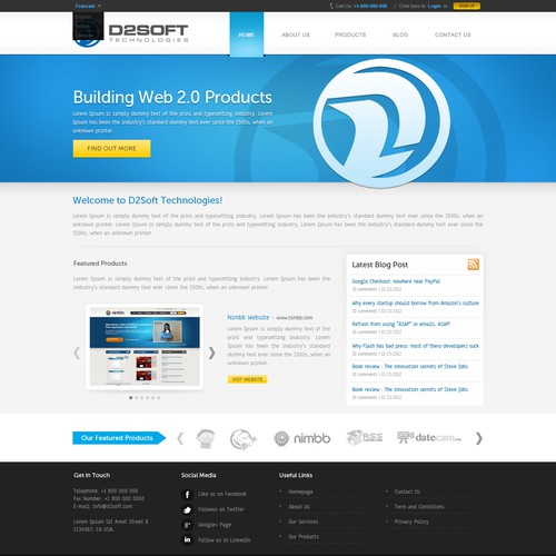 D2Soft Technologies needs a new corporate site
